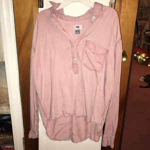 Pink casual long sleeve